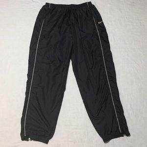 Nike Vintage 90's Black Jersey Lined Track Pants